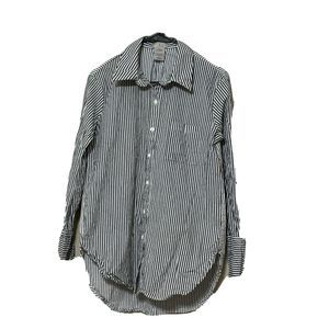CAD Womens top stripe shirt blouse black casual S